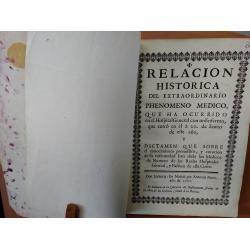 Relación histórica del extraordinario phenomeno médico (título completo en descripción) - Imagen 1