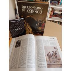 Diccionario enciclopédico ilustrado del flamenco (obra completa en 2 tomos, dedicado y firmado por artistas y personajes del fla